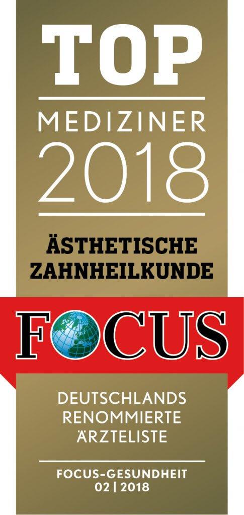 Focus Gesundheit Top Mediziner 2018 Ästhetische Zahnheilkunde